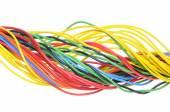 Cavo elettrico multicolore — Foto Stock
