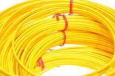 黄色光纤电缆 — 图库照片