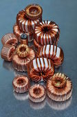 Spiralne przewody elektryczne — Zdjęcie stockowe
