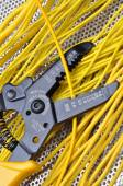 Strippers tool with electrical wires — Stok fotoğraf