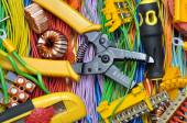 Electrical component kit to use in electrical installations — Stock Photo
