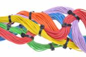 Multicolored electrical cables — Стоковое фото