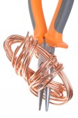 Pliers with copper wire — Stock Photo