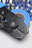 Tools for electricians crimpers and accessories — Foto Stock