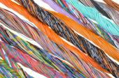 Multicolored telecommunication cables — Stock Photo