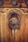 Door Knocker on the door — Stock fotografie