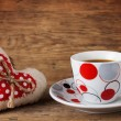 Red Heart and coffee — Stock Photo #63374935