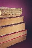 Closeup of old books — Stockfoto