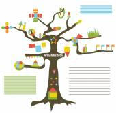 Infographic data on the tree - presentation — Stock Vector