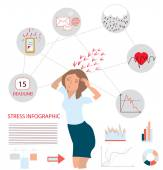 Stress infographic illustration — Stock Vector