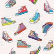 Seamless pattern with sneakers — Stock Vector #54730755