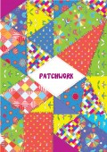 Patchwork cover or placard - funny design — Stok Vektör