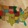 USA funny map on the old paper — Stock Photo #58274997