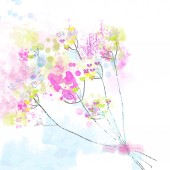Floral watercolor abstract background for the card or invitation — Stock vektor