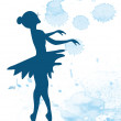 Ballerina and artistic background — Stock Vector #63288767