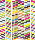 Abstract seamless textile pattern with stripes — Stock Vector