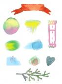 Watercolor design elements for sale — Stock Vector