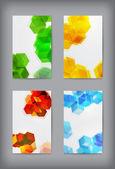 Set of  geometric banners for modern design. — Stock Vector