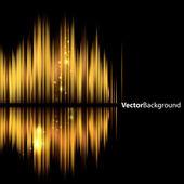 抽象的な背景-光沢のあるサウンド波形. — ストックベクタ