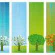 Four seasons banners — Stock Vector #51953159