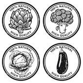 Vegetables Brand — Stock Vector