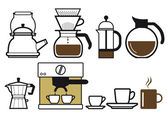 Preparing coffee — Stock Vector