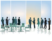 Business reception — Stock Vector