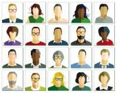 People portrait — Stock Vector