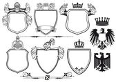 Royal Knights Coat of Arms — Stock Vector
