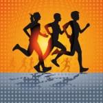 Three running — Stock Vector #57754865