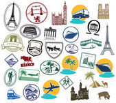 Europe Stickers and Stamps — Stock Vector
