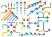 Arrows directions — Stock Vector
