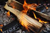 Burning firewoods — Stock Photo