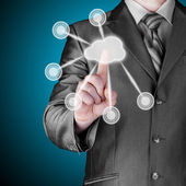 Cloud computing — Stockfoto