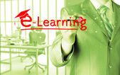 E-learning concept — Stock Photo