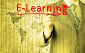 E-learning concept — Foto de Stock