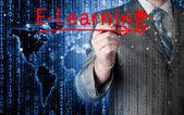 E-learning concept — Stockfoto