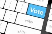Vote button — Stock Photo