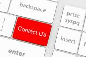 Contact us keyboard button — Stock Photo