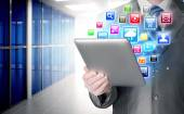 Business man use tablet  in office — Stock fotografie