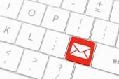 Mail klavye düğmesi gri klavye — Stok fotoğraf