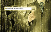 Online education written in search bar on virtual screen. — Fotografia Stock