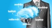 Le cloud computing, concept de connectivité technologique — Photo