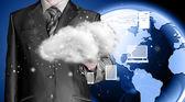 облако вычислительным, технологии подключения к концепции — Стоковое фото
