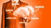 云计算技术连接概念 — 图库照片