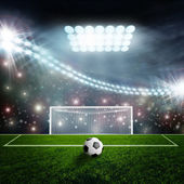 Yeşil Stadyumu arena futbol topu — Stok fotoğraf