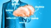 Il cloud computing, il concetto di connettività tecnologia — Foto Stock
