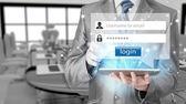 Inloggning och lösenord — Stockfoto
