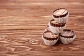 Dark chocolate on a white background — Stockfoto