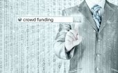 Businessman and crowd funding — Stock Photo